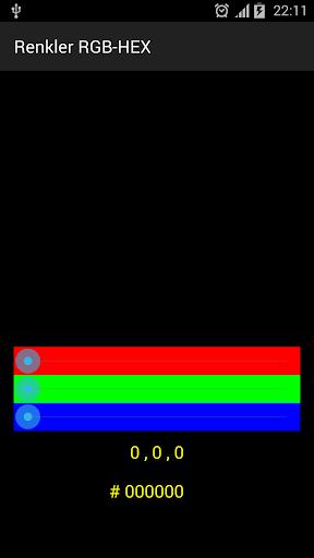 Renkler RGB HEX