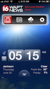 Alarm Clock 16 WAPT News - screenshot thumbnail