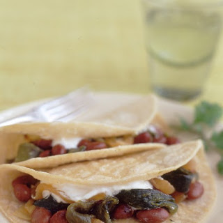 Pinto Bean and Poblano Tacos