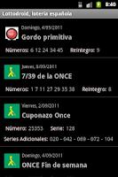 Screenshot of Lottodroid loterias y apuestas