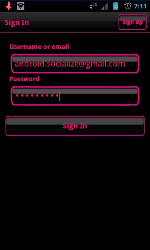 Pink Socialize for Twitter- screenshot