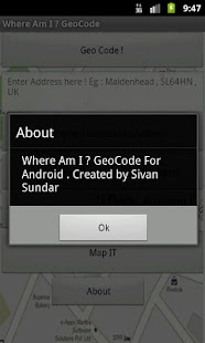 Where Am I ? GeoCode- screenshot thumbnail