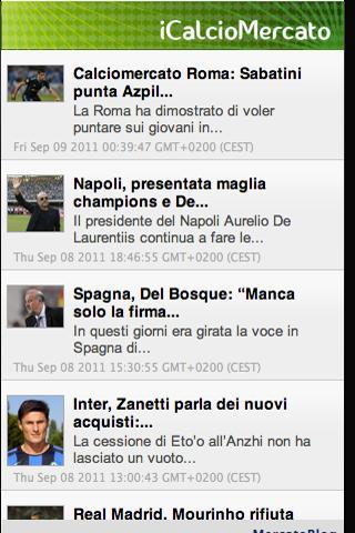 iCalcioMercato - screenshot