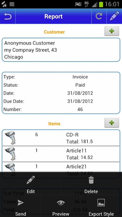My Invoices (free) - screenshot