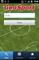 Screenshot of GeoSport
