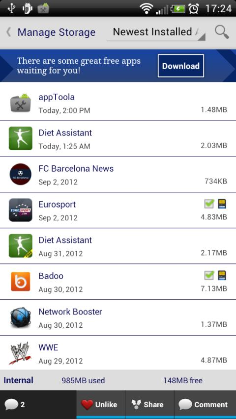 appToola - App Manager- screenshot