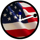 USA Flag Clock Widget