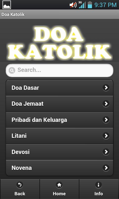 Doa Katolik- screenshot