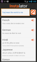 Screenshot of Multi Translation - Instalator