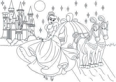 Historias Infantis Desenhos P Colorir Cinderela