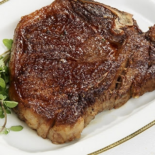 Pan-seared T-Bone steak