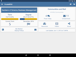 Screenshot of PocketWGU