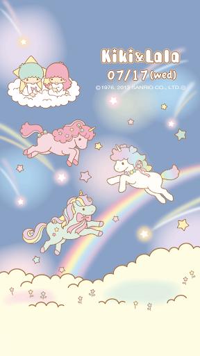 [キキ&ララ]星空のユニコーンライブ壁紙