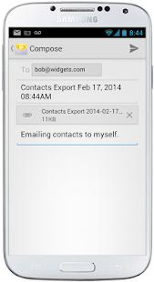 123 Contact Backup Screenshot