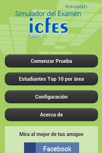 Simulador Examen ICFES  screenshots 1