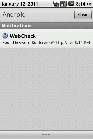 WebCheck - screenshot