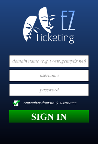 EZ Ticketing Check In- screenshot