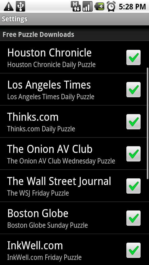 Shortyz Crosswords Android