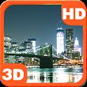 Skyline Bridge Night City View icon