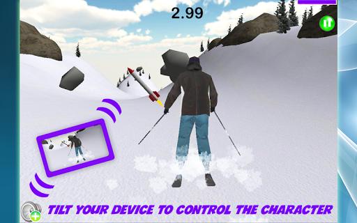 Skiing: Blizzard In Rocks