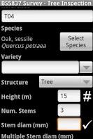 Screenshot of BS5837 Survey