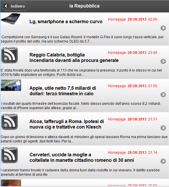 la Repubblica - MikRss - screenshot