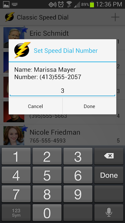 Classic Speed Dial Plus - screenshot