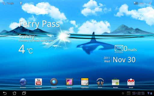 Живые обои Океанские глубины для планшетов на Android