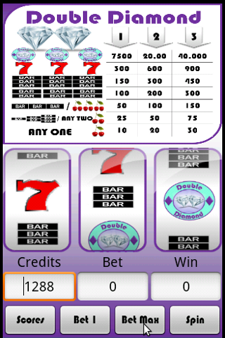 Slot Machine : Double Diamond - screenshot