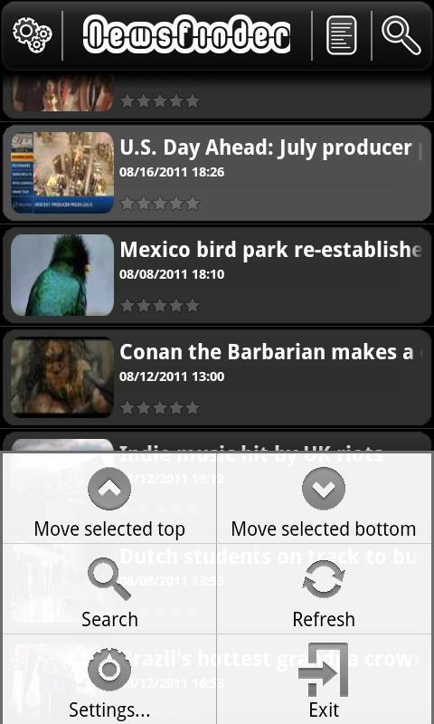 NewsFinder- screenshot