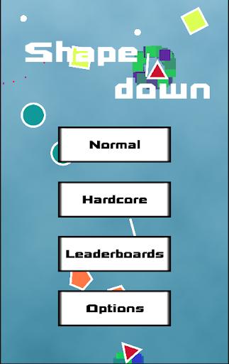 Shape down