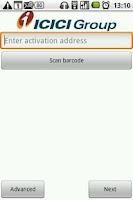 Screenshot of ICICI Bank i-safe