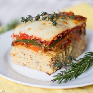 Baked Polenta with Roasted Vegetables