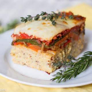 Baked Polenta with Roasted Vegetables.