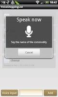 Screenshot of VoiceShoppingList GoldVersion