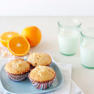 Orange and White Chocolate Muffins.