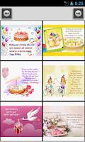 Screenshot of Happy Birthday Card & Message