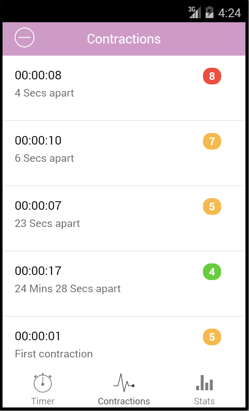 Contraction Timer- screenshot