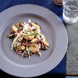 Grilled Mussel and Potato Salad.