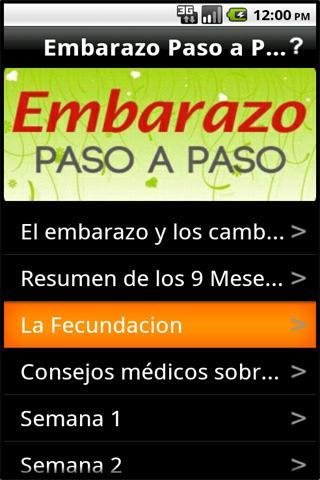Embarazo Paso a Paso- screenshot
