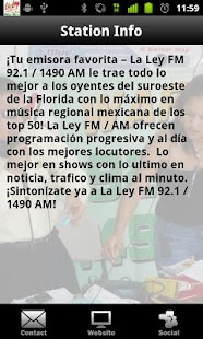 La Ley 92.1 - screenshot thumbnail