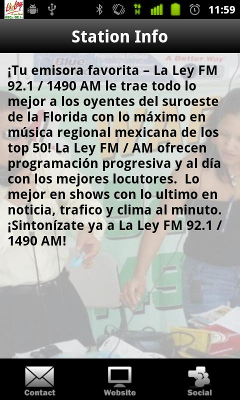 La Ley 92.1 - screenshot