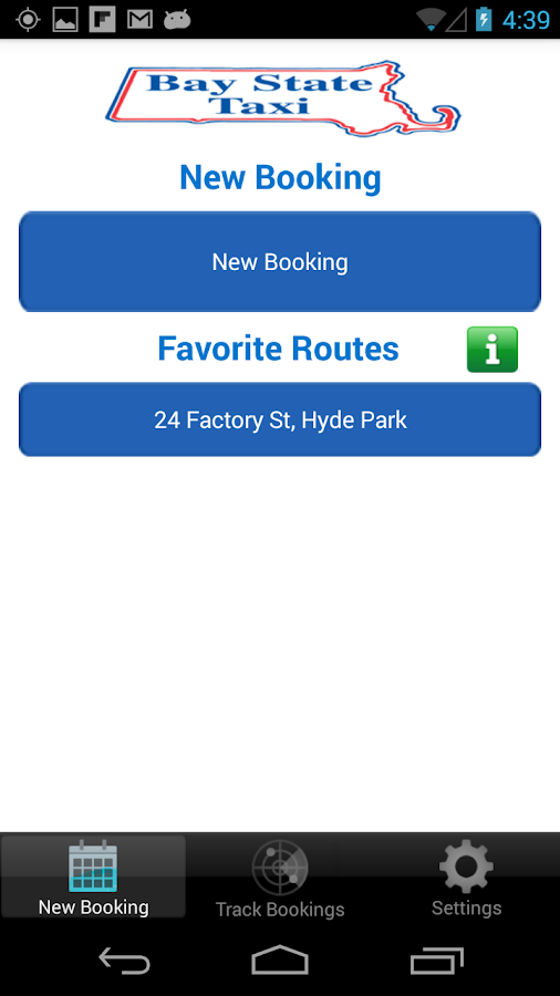 BayState Taxi Brookline/Boston- screenshot