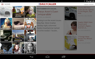 Screenshot of The Daily Caller