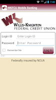 Screenshot of WKFCU Mobile Banking