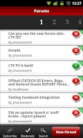 Screenshot of LTXTech Mobile
