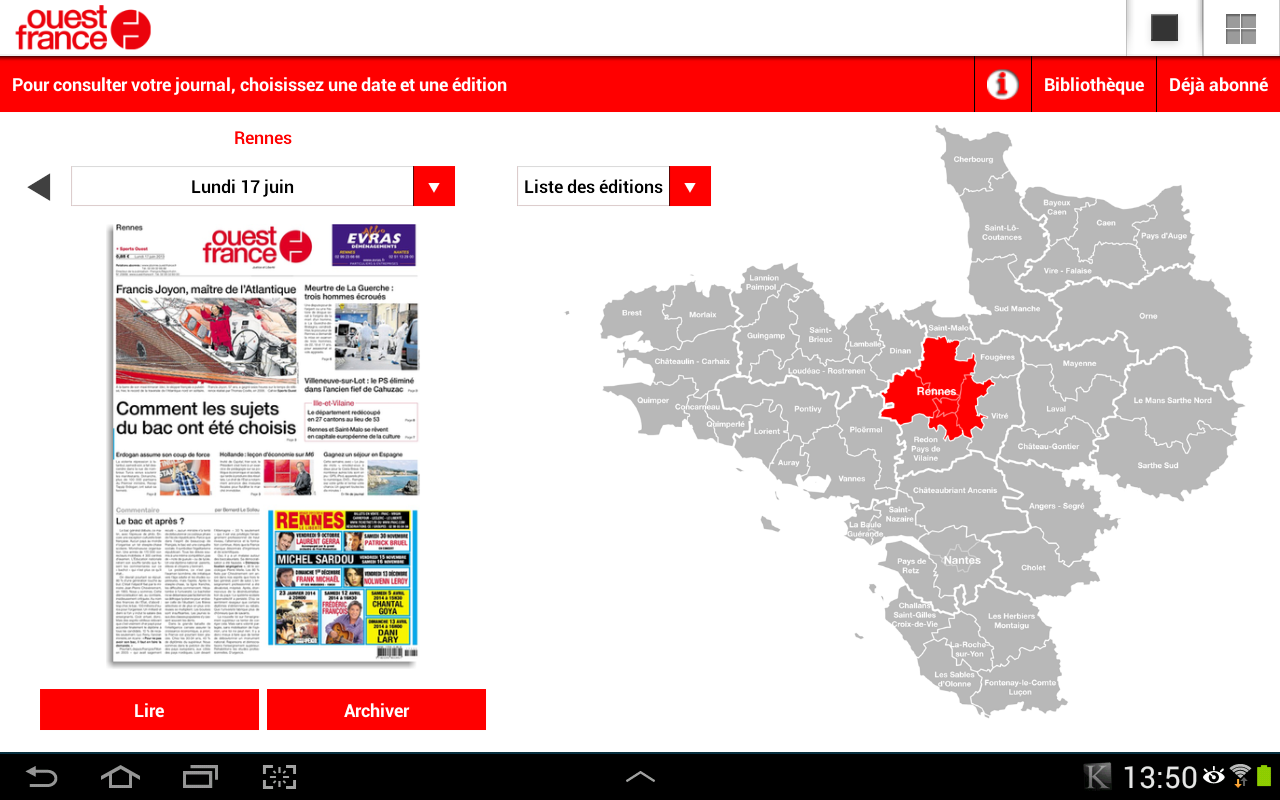 Ouest france le journal android apps on google play - Ouest france abonnement numerique ...