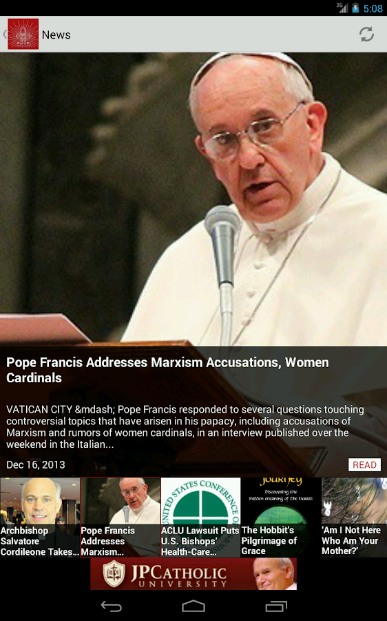 National Catholic Register- screenshot