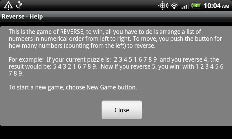 Reverse for Tablets- screenshot