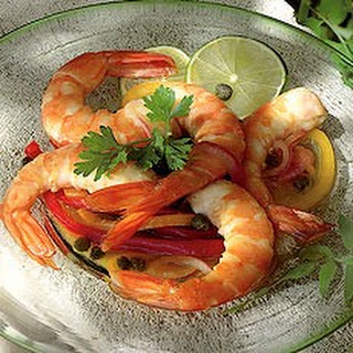 Hot and Sour Pickled Prawns.